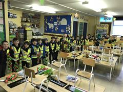 National Be Safe Be Seen Day in Junior Infants 21/12/2017