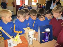 Senior Infants at the Science Fair