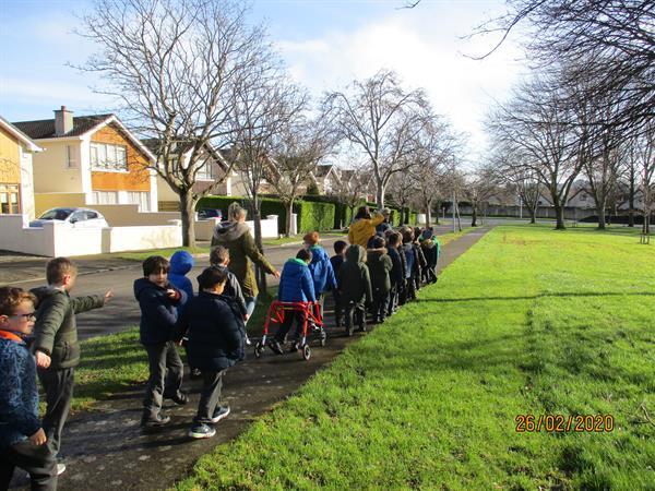 Spring Walk in Senior Infants