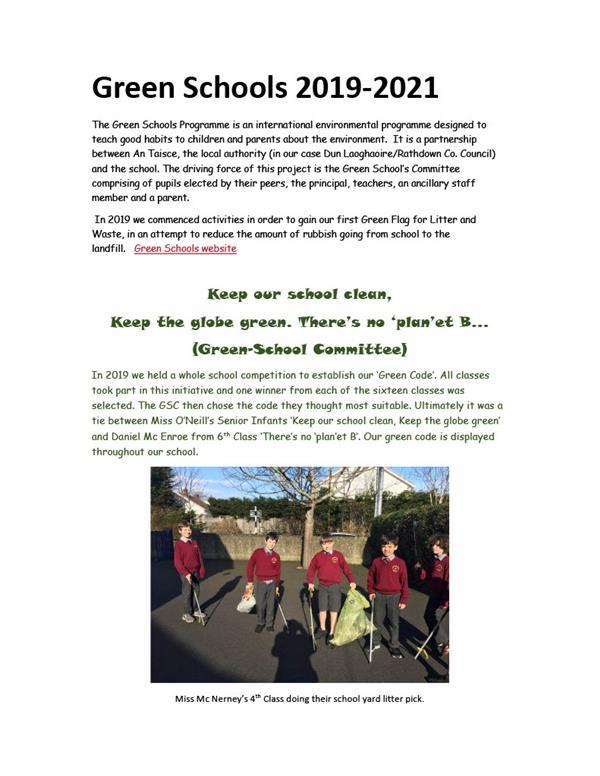 Green Schools 2019 - 2021