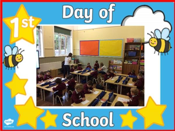 Junior Infants' First Day - Ms. O'Neill's Class