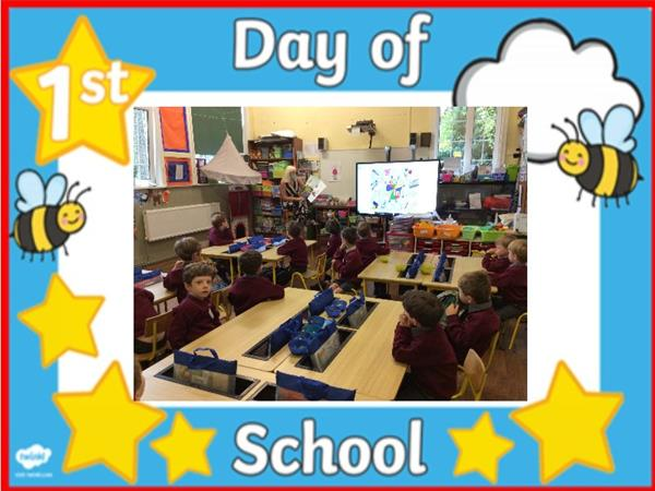 Junior Infants' First Day - Ms. O'Sullivan's Class