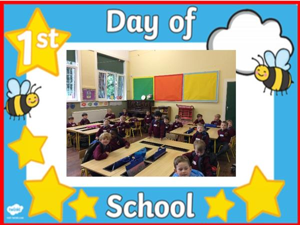 Junior Infants' First Day - Ms. McNerney's Class